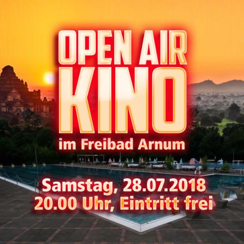 28.07.2018: Open Air Kino im Freibad Arnum