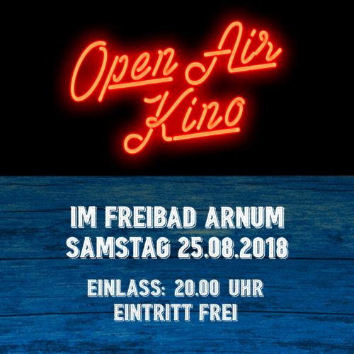 25.08.2018: Open-Air-Kino im Freibad Arnum