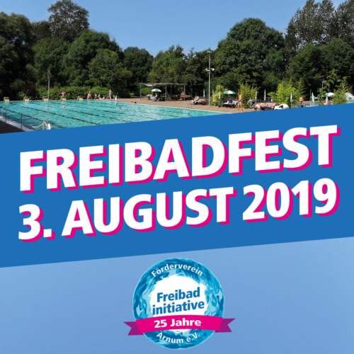 Freibadfest am 3. August 2019