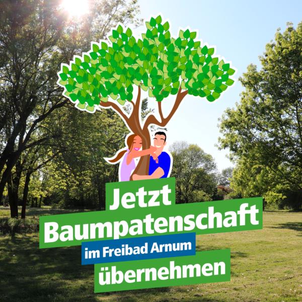 Jetzt Baumpatenschaft im Freibad Arnum übernehmen